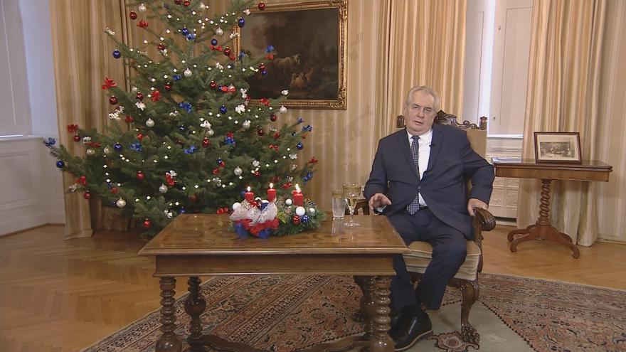 Video Vánoční poselství prezidenta republiky Miloše Zemana 2016