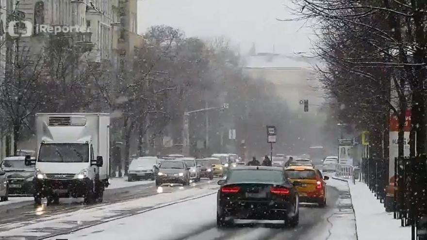 Video Sněžení v Praze