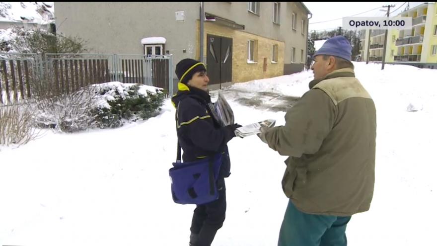 Video Události: Do práce sněhovou kalamitou