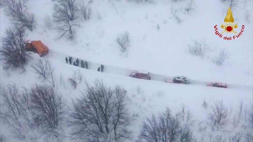 Video Záběry z místa pádu laviny