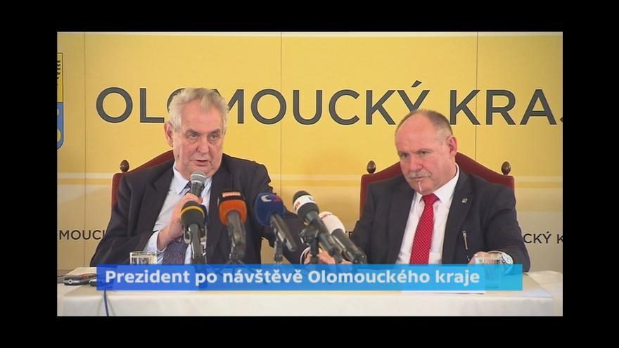 Video Tisková konference Miloše Zemana