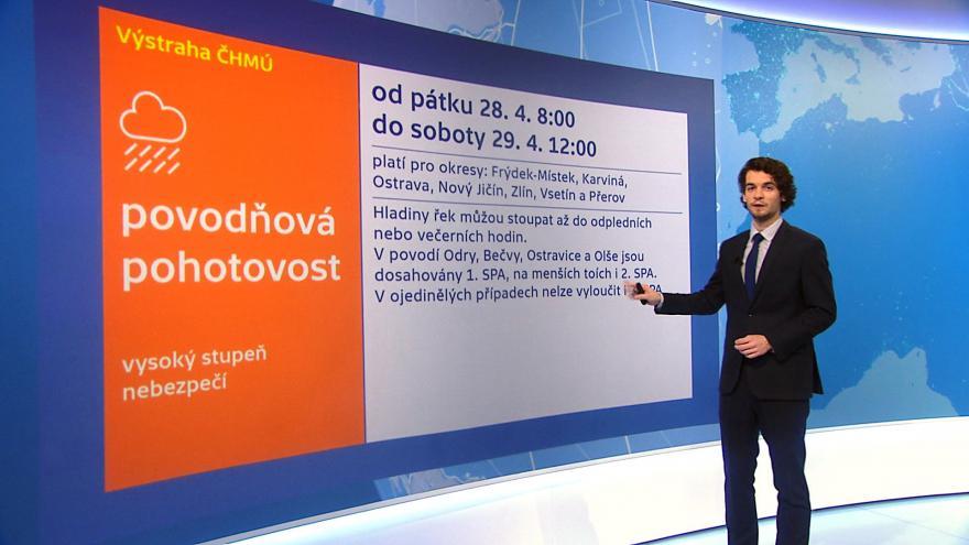 Video Předpověď počasí v pátek 9:00