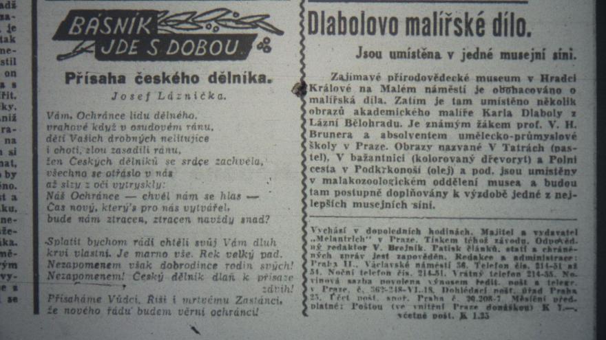 Video Akrostich v Českém slově z 15. června 1942