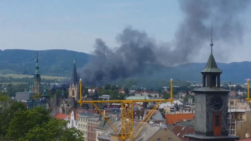 Video iReportér Jakub Kopecký: Požár v Liberci