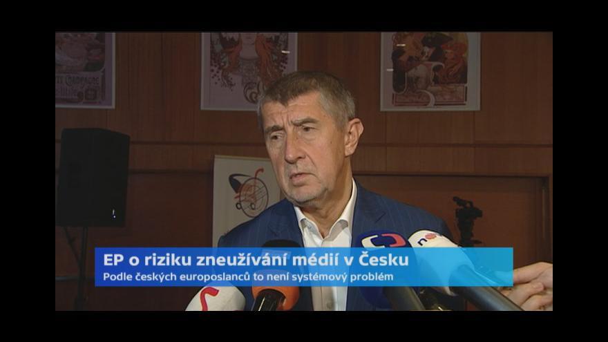 Video Reakce Andreje Babiše k jednání EP