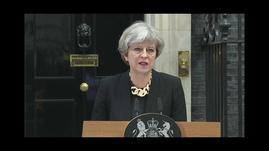 Video Projev britské premiérky Theresy Mayové k útoku v Londýně