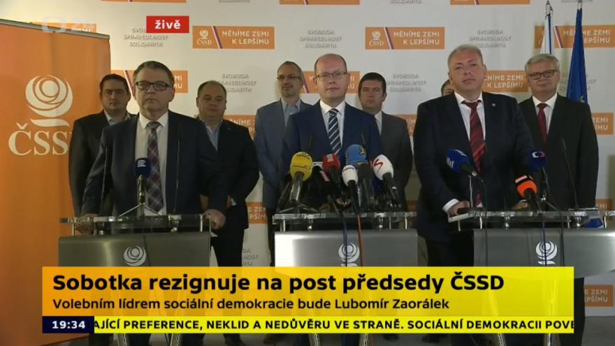 Video ŽIVĚ: Speciál ČT24 ke změnám v ČSSD