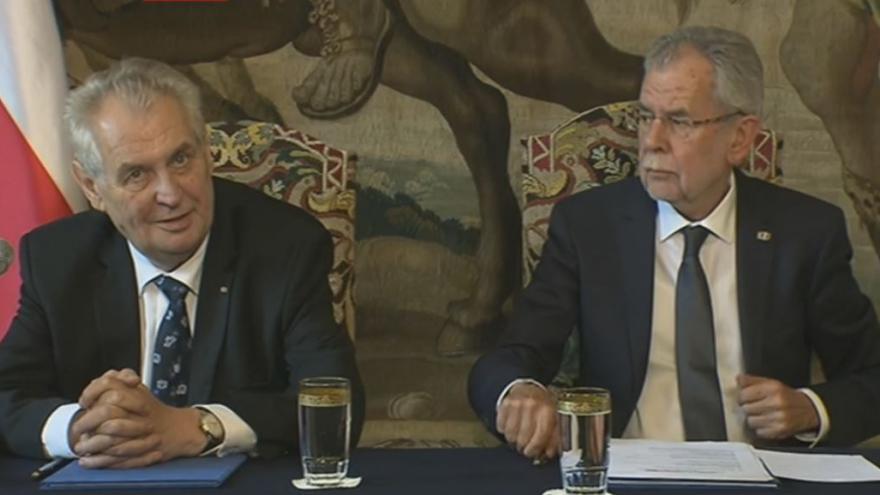 Video Tisková konference českého a rakouského prezidenta