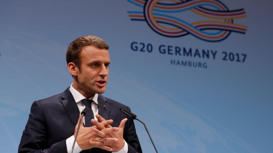 Video Emmanuel Macron po summitu G20