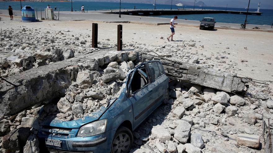 Video Zemětřesení na Kosu očima Češky