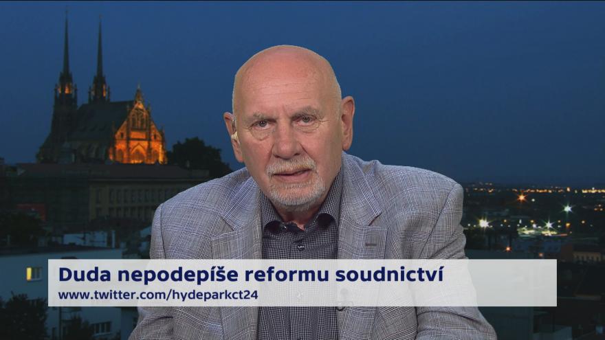 Video 90' ČT24 - Polská soudní reforma a protesty proti ní