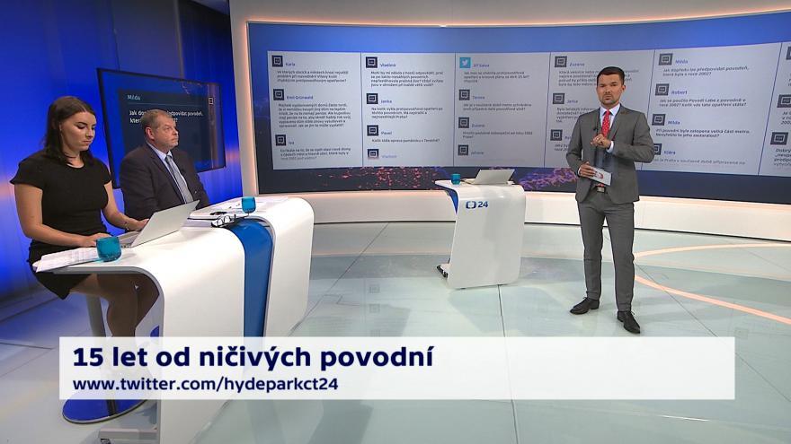 Video 90' ČT24 - Česko před 15 lety zasáhly povodně