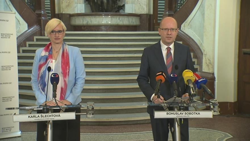 Video Sobotka: Jsem velice rád, že paní Šlechtová ministerstvo provětrala