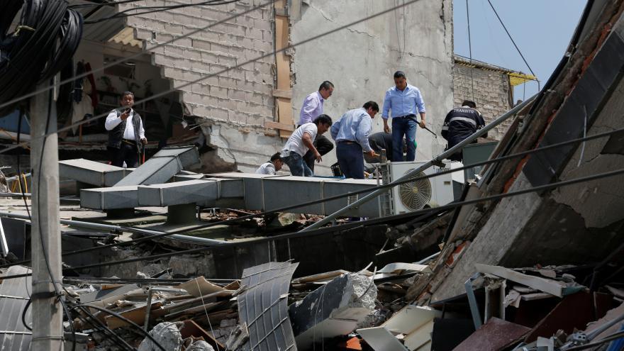 Video Silné zemětřesení v Mexiku