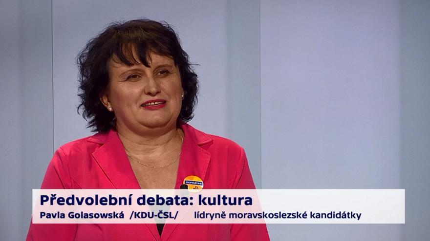 Video Golasowská o prioritách v kultuře