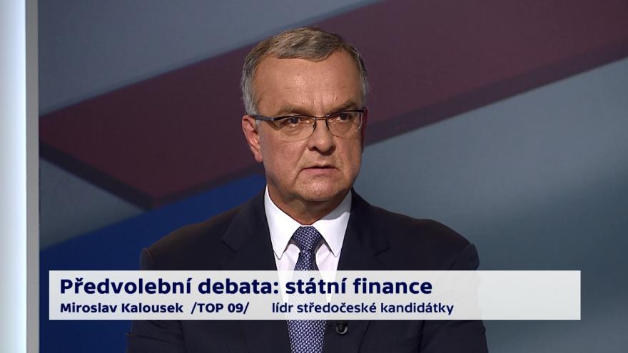 Video Kalousek o prioritách ministerstva financí