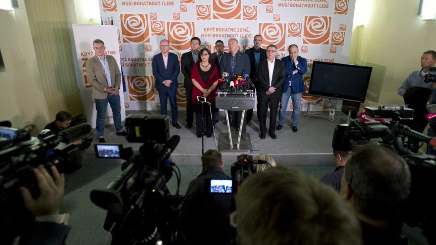 Video Povolební brífink České strany sociálně demokratické (ČSSD)