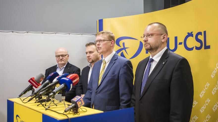 Video Povolební brífink Křesťanské a demokratické unie - Československé strany lidové (KDU-ČSL)