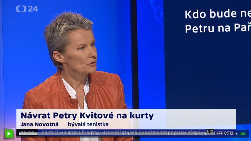 Video 90' ČT24 - Petra Kvitová na French Open?