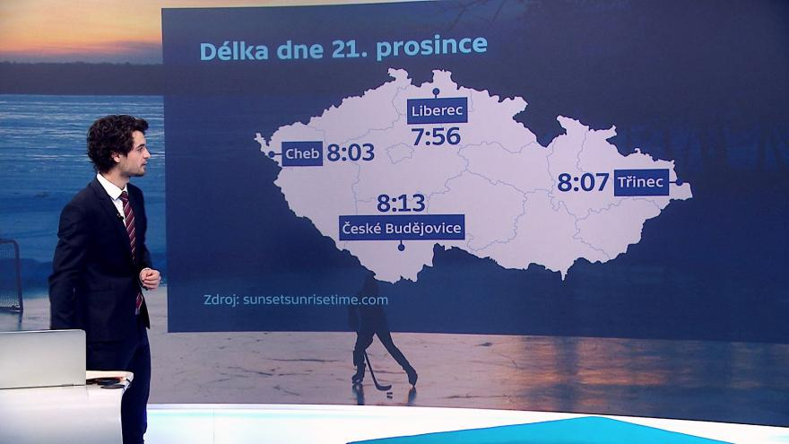 Video Délka dne se liší i v rámci Česka