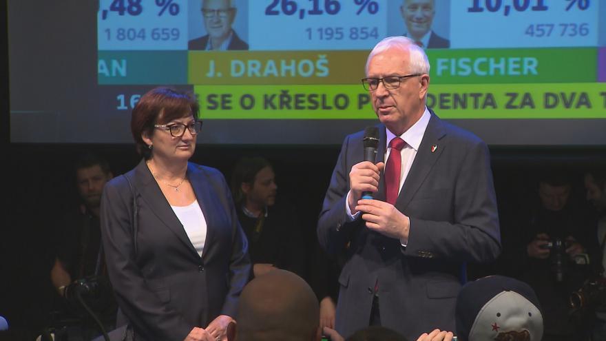 Video Tisková konference Jiřího Drahoše