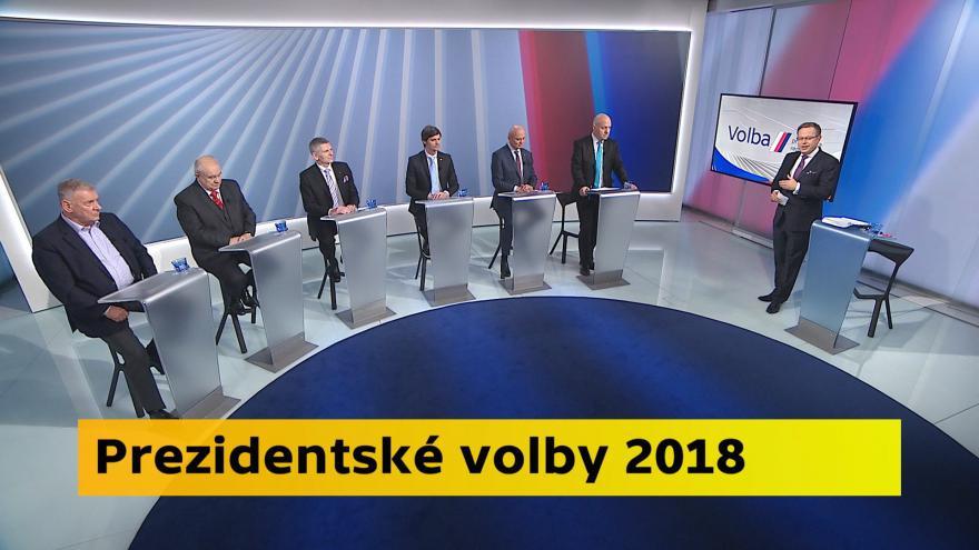 Video Volba prezidenta ČR 2018 - Volební studio České televize