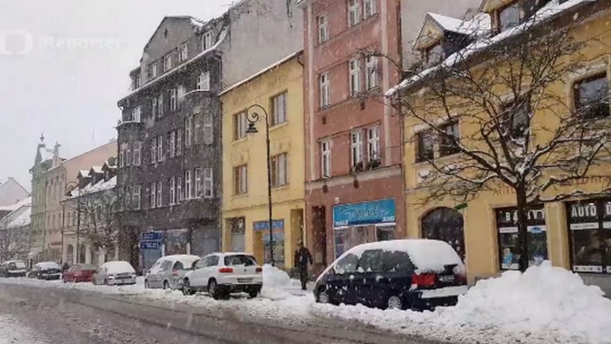 Video Sněhová kalamita v Krušných horách