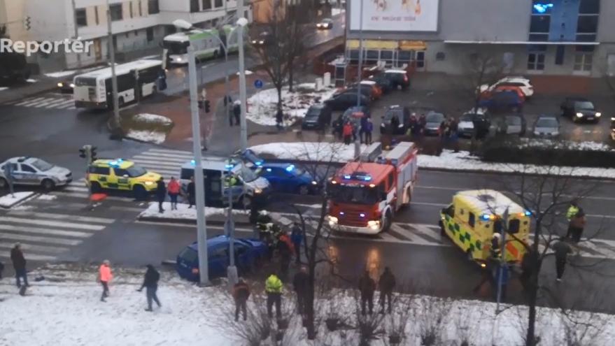 Video Nehoda v ulici Milady Horákové v Českých Budějovicích