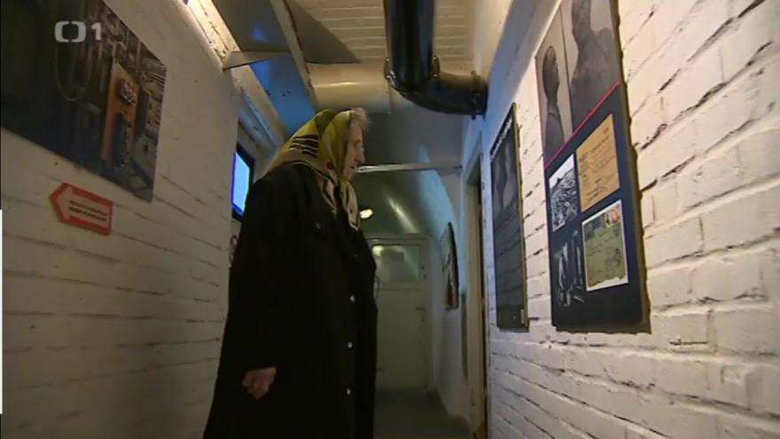 Video Věra Sosnarová na výstavě Čechoslováci v lágru