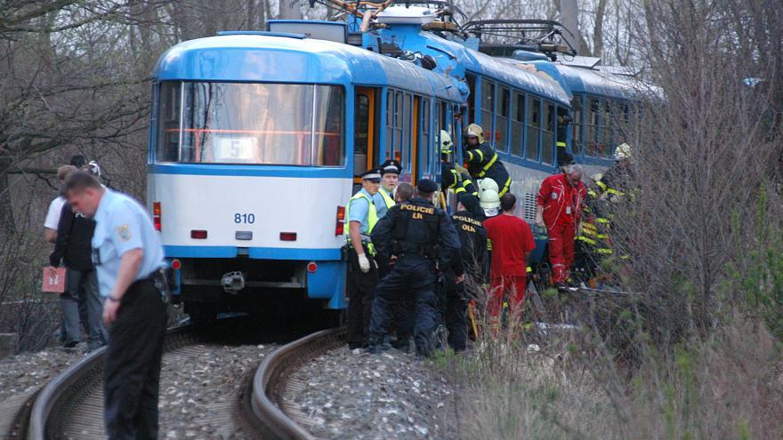 Video Nehoda tramvají v Ostravě
