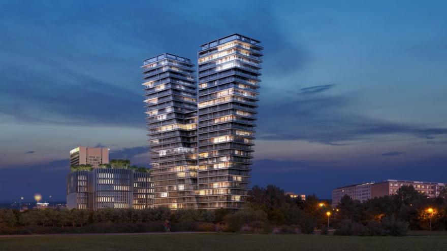 Video Události ČT: Pražský V Tower bude nejvyšší bytový dům v Česku