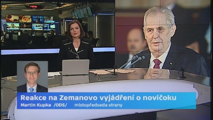 Video Místopředseda ODS Kupka: Vyjádření prezidenta umožní spřádat nejrůznější spiklenecké teorie