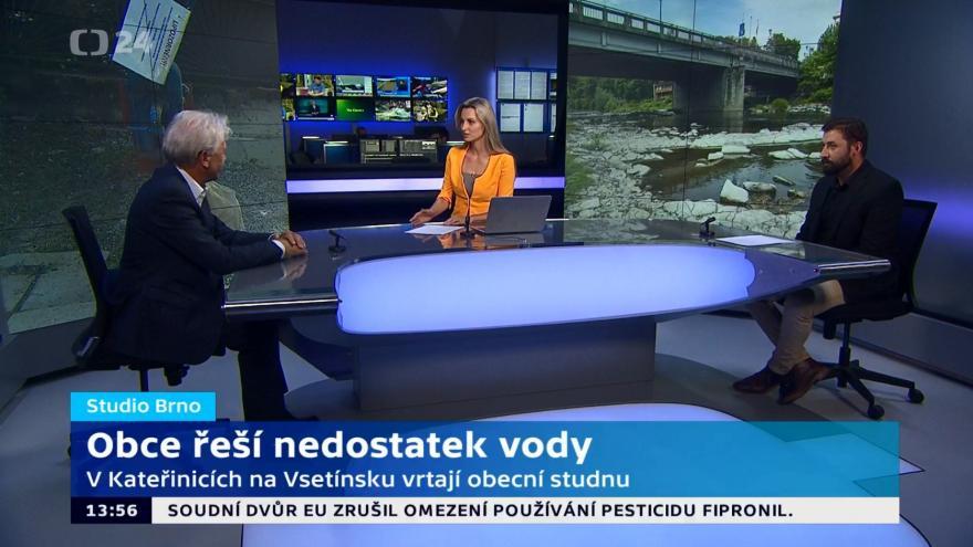 Video Studio ČT24: Obce řeší nedostatek vody