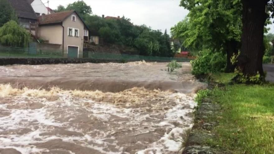 Video Velká voda v Lochovicích na Berounsku