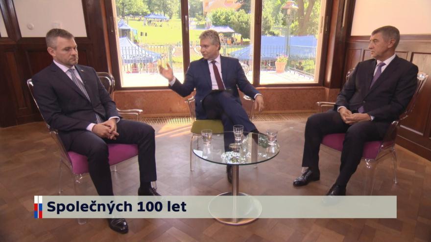 Video Debata premiérů Česka a Slovenska v ČT
