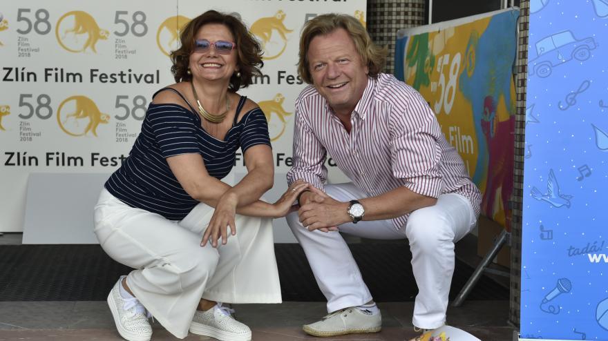 Video  Ivana Andrlová a Maroš Kramár mají svou hvězdu na chodníku slávy ve Zlíně