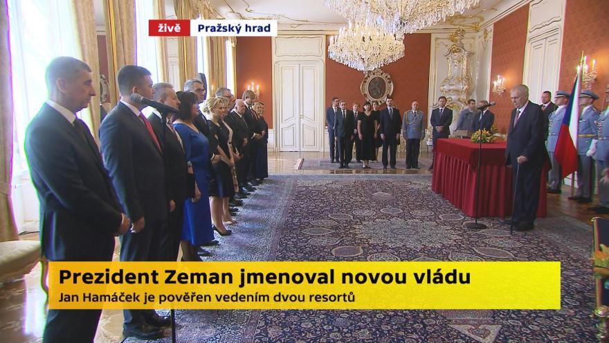 Video Mimořádné pořady ČT24 - Jmenování vlády Andreje Babiše