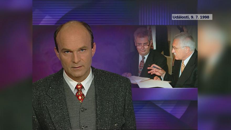 Video Události ze dne 9. 7. 1998: podpis opoziční smouvy