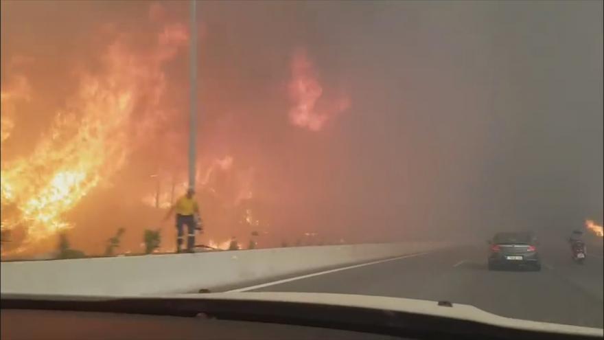 Video Při lesních požárech v Řecku zahynulo nejméně 50 lidí