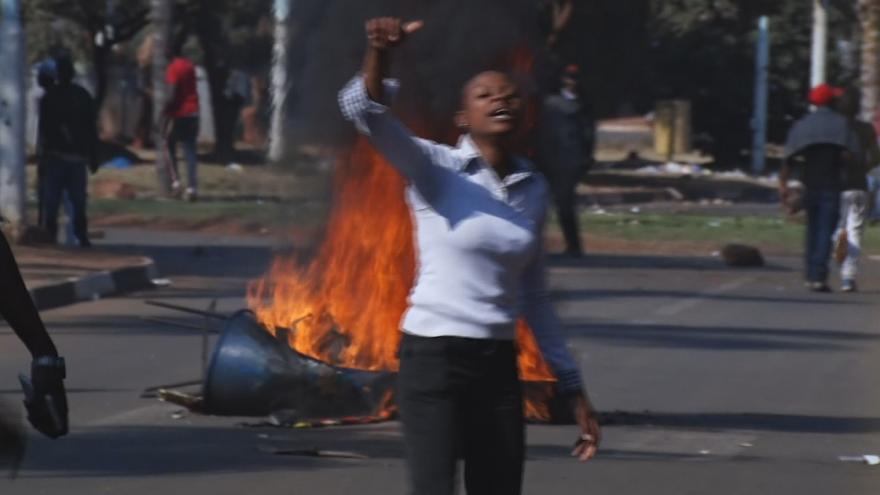 Video Nepokoje v Harare
