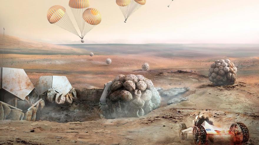 Video 3D dům na Marsu