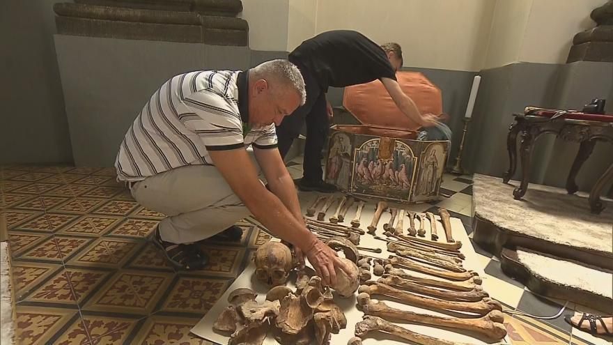 Video Olomouc: Archeologové vyzvedli ostatky přemyslovských knížat