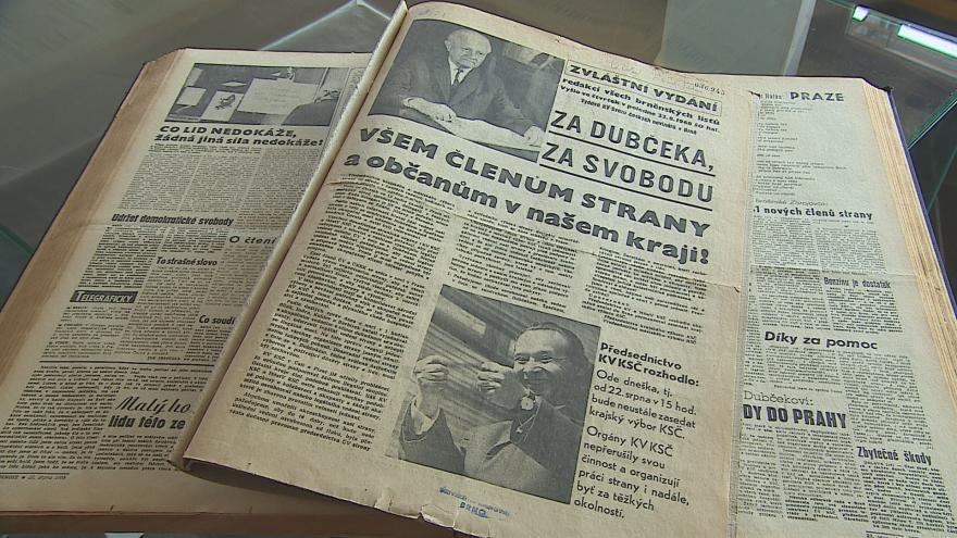 Video Srpnové události zaplnily stránky moravských novin