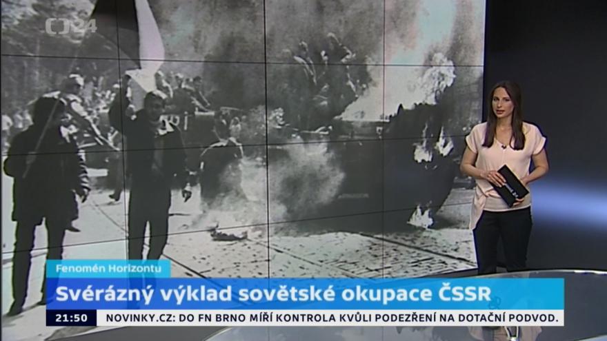 Video Rossija 1 obhajovala invazi do Československa
