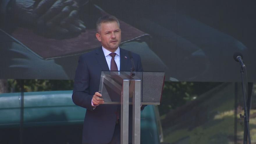 Video Při výročí SNP kritizoval Pellegrini slovenské neonacisty