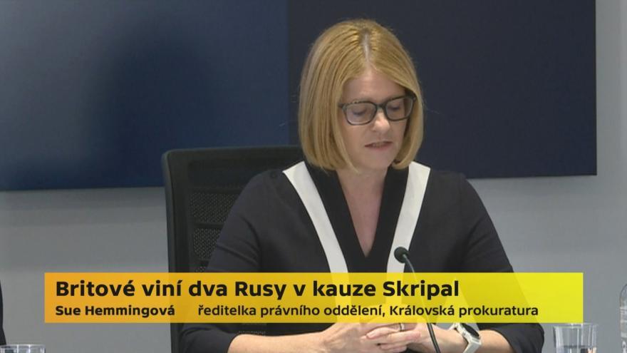 Video Vyjádření vyšetřovatelů ke kauze Skripal