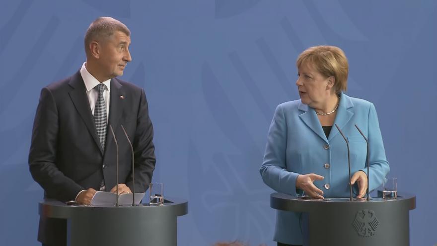 Video Tisková konference premiéra Andreje Babiše a německé kancléřky Angely Merkelové