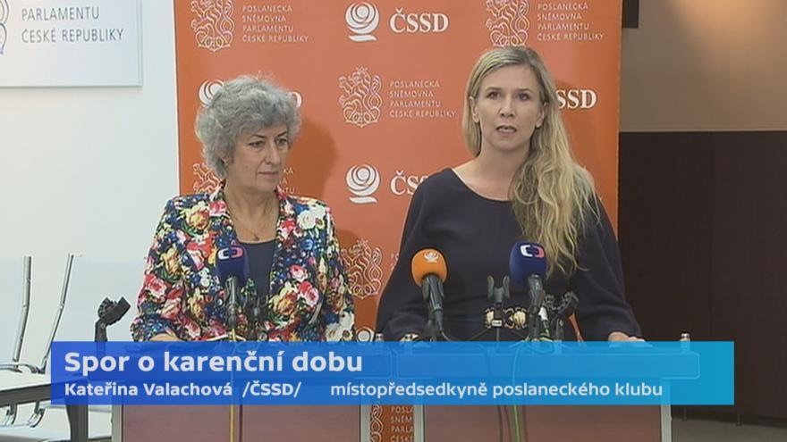 Video Události ČT: ČSSD trvá na proplácení prvních tří dnů nemocenské