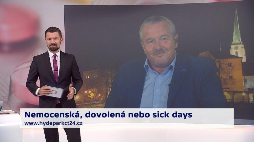 Video 90' ČT24 - Koaliční spor o nemocenskou