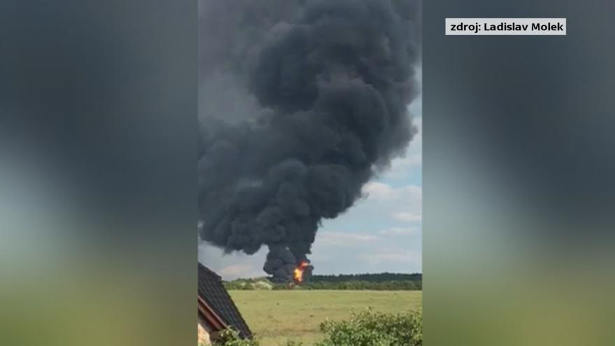 Video Výbuch nádrží v Loukově na Kroměřížsku